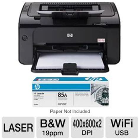 Toner Printer Hp 85a hp laserjet pro p1102w printer 85a black toner cartridge