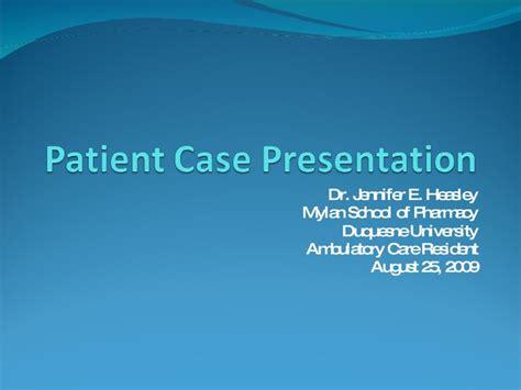 patient case presentation
