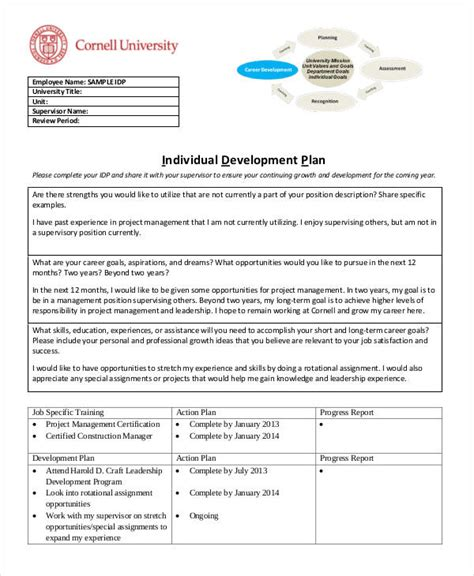13 individual development plan templates free sle