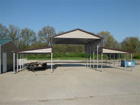 Attached Carport Pictures Metal Barns Tennessee Steel Barns Barn Prices Tn