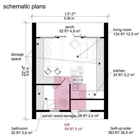 Tiny Home Blueprints | a frame tiny house plans