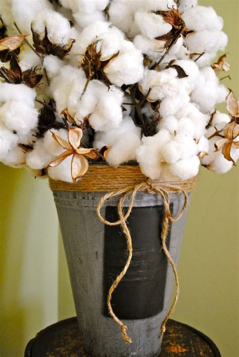 large cotton centerpiece country cotton wedding theme