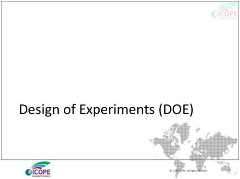 design of experiments powerpoint design of experiments