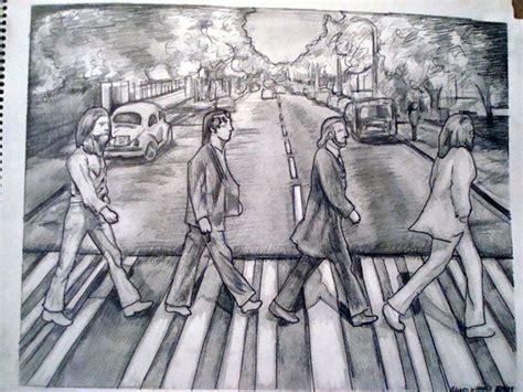 sketch album beatles road drawing by xeclypsionx on deviantart