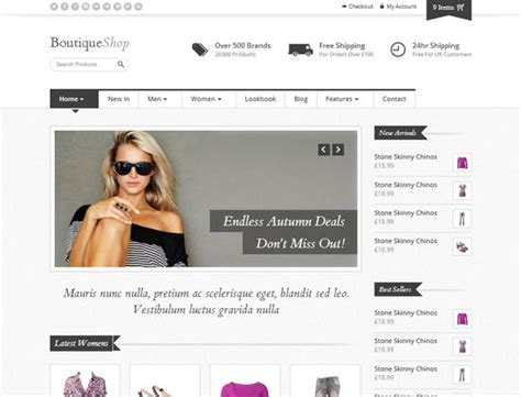 33 free and premium html css ecommerce website templates