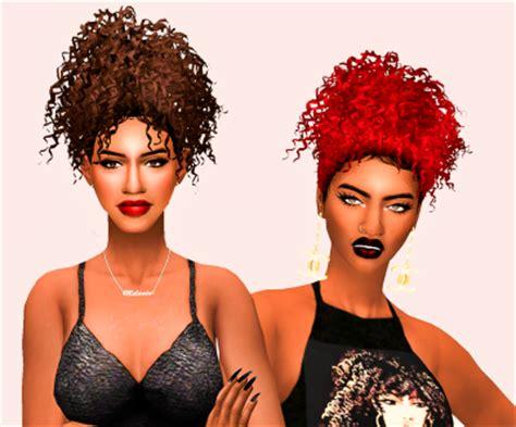 the sims 4 natural curly hair my sims 4 blog moesha hair by ebonixsimblr