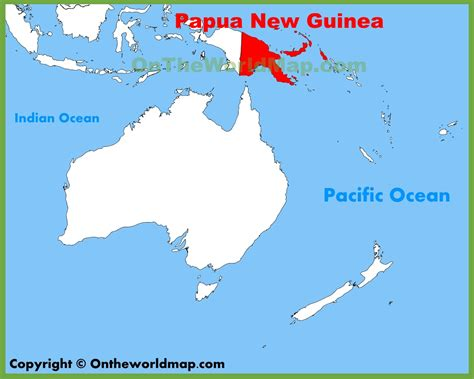 papua new guinea on world map papua new guinea location on the oceania map