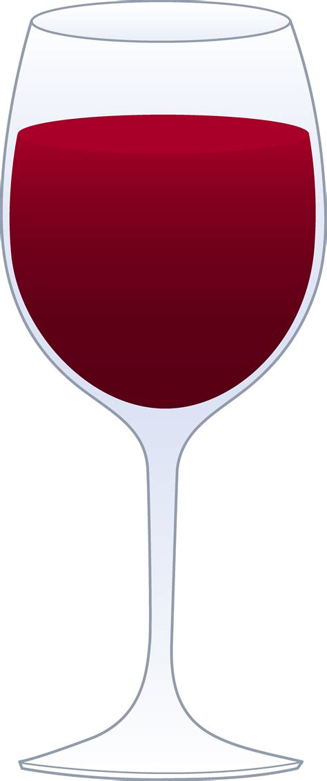 cartoon wine glass glass of red wine free clip art