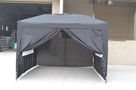 awnings with sides 10x10 ez pop up 4 walls canopy party tent gazebo with sides 6051 1010bk ebay