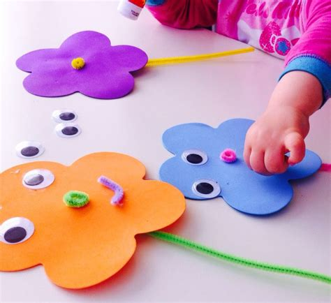 crafts for babies foam flowers flower and flowers
