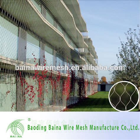 wire for climbing plants stainless steel wire rope mesh net for green wall climbing