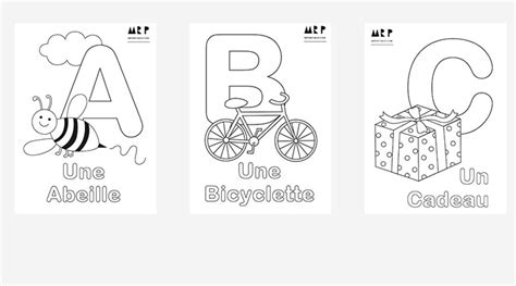 alphabet coloring pages in french learn french with our free resources fun projects at mr p