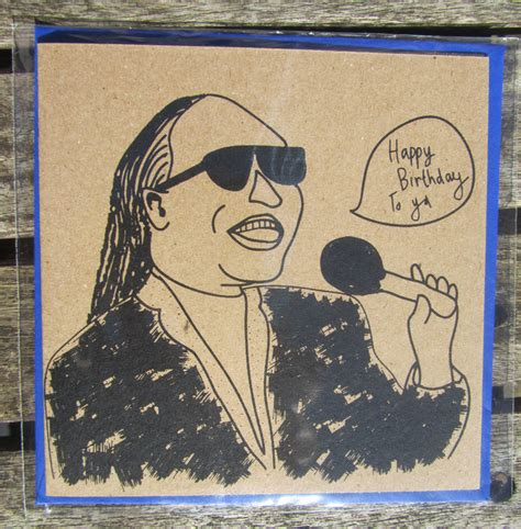 Stevie Birthday Card Stevie Wonder Birthday Card Folksy