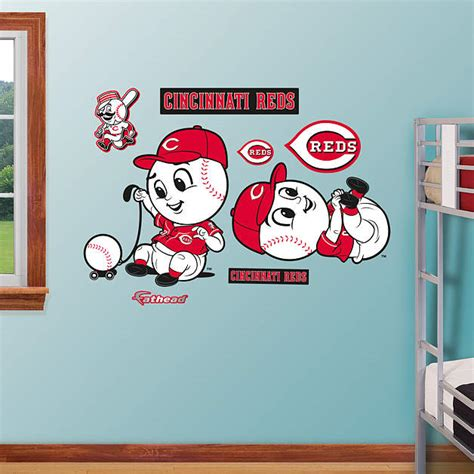 cincinnati reds home decor cincinnati reds mascot rookie league wall decal shop