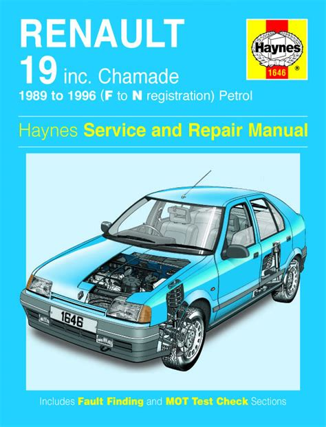haynes manual renault 19 petrol 1989 1996 f to n