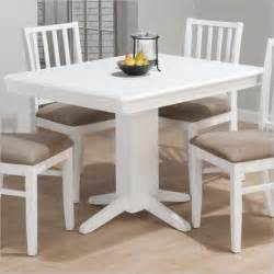 White Pedestal Dining Table Jofran Aspen Rectangular Fixed Top Pedestal Dining Table In White 625 44 Kit