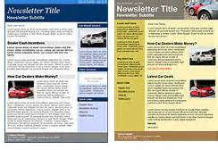 sales newsletter templates automotive dealership email marketing