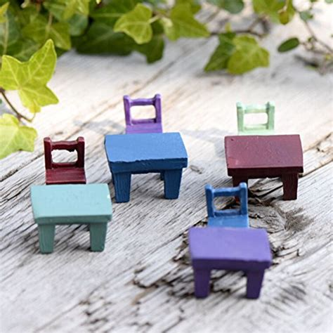 buytra miniature fairy garden tables chairs furniture