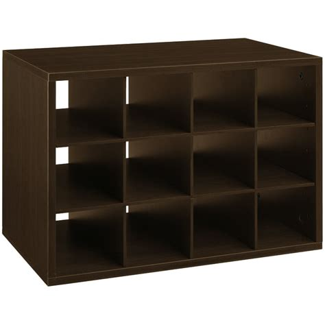shoe storage cubbies organized living freedomrail chocolate pear big o box