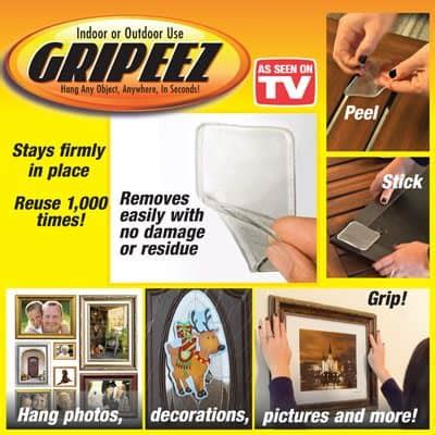 stick things on walls without leaving marks gripeez peel and stick strong pad grippers