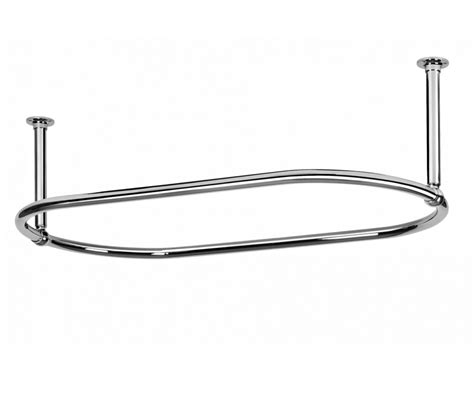 shower curtain fixings oval curtain rail 2 end fixings polished chrome large