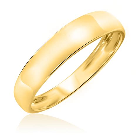 traditional wedding band set 10k yellow gold my trio