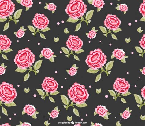 pattern pink rose vetor red roses dark seamless pattern vector free download