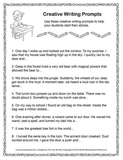 creative essay writing topics printable writing prompts for