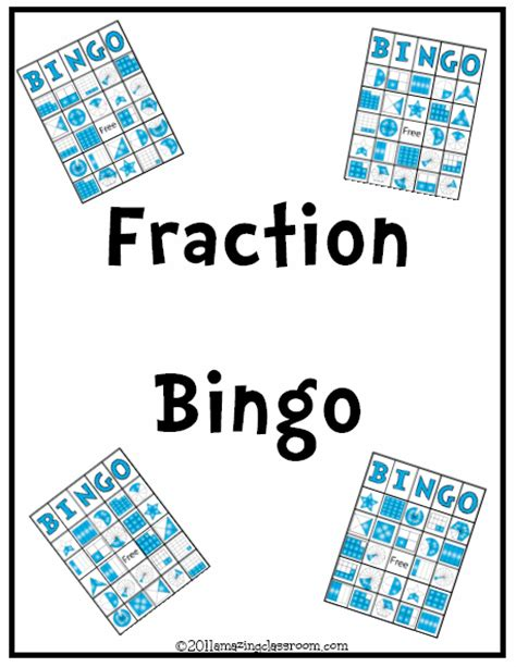 printable games with fractions fraction bingo printable worksheet with answer key