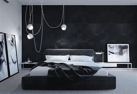 Black And White Bedroom Black And White Master Bedroom Shows The Stretch Of The Monochromatic