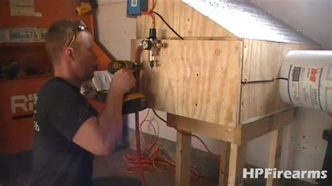 installing air exhaust  spray booth  hpfirearms
