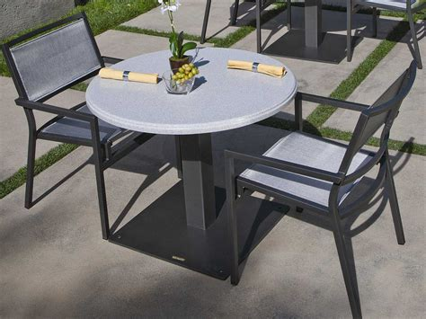 Tropitone Stoneworks Faux Granite Stone 36 Round Solid Faux Patio Table Tops