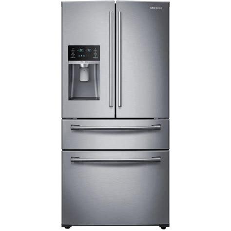 samsung 4 door refrigerator shop samsung 28 15 cu ft 4 door door refrigerator with single maker stainless steel