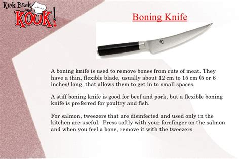 what are boning knives used for knife skills kitchen safety and simpler cooking