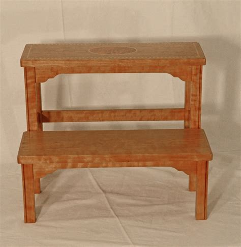 Cherry Step Stool Kitchen by Cherry Federal Step Stool Silverpearl Woodworking