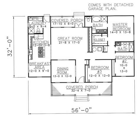 country house plan 3 bedrms 2 5 baths 1785 sq ft