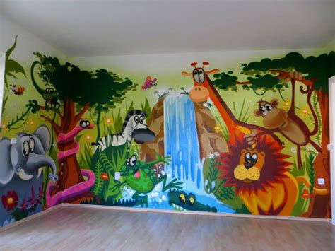 Babyzimmer Wände Gestalten Malen Motiv Vorlagen by H 246 Hle Bauen Im Kinderzimmer