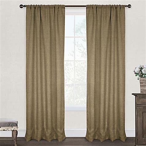 natural burlap curtains burlap rod pocket window curtain panel pair in natural