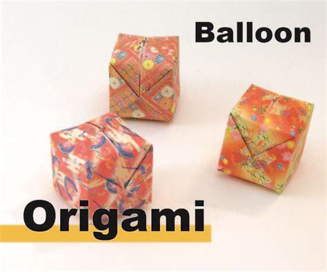 How Do You Make A Origami Balloon - how to make origami a balloon do it yourself