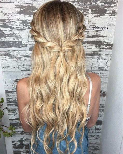 easy homecoming hairstyles down braid half up half down hairstyle ideas easy hairstyles