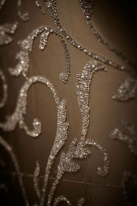beaded wallpaper romanoff s glass beaded wall covering used in a hong