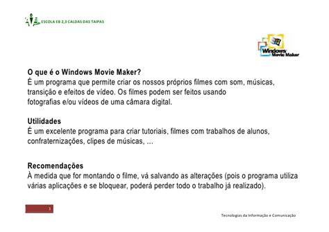 tutorial sobre windows movie maker tutorial sobre o windows movie maker
