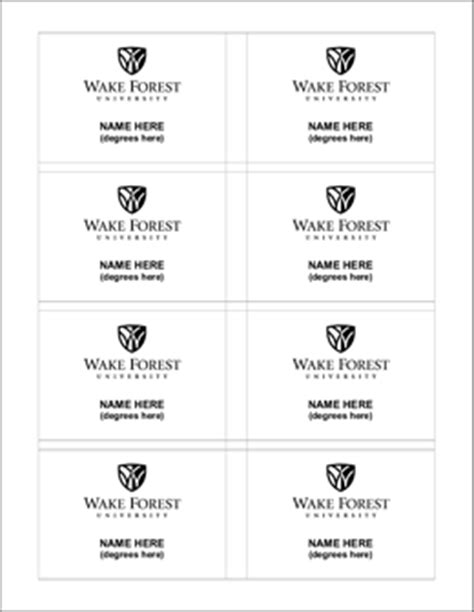 identity standards university  tag template