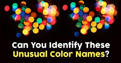 unusual color names can you identify these unusual color names quizpug