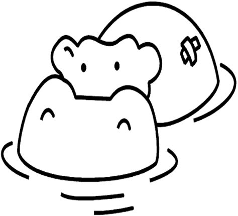 cute hippo coloring page cute hippo coloring pages to kids