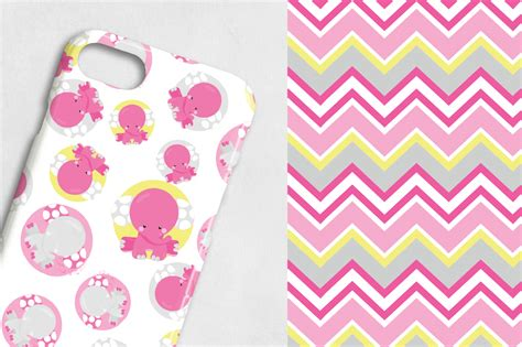 pink elephant pattern pink elephant patterns collection digital papers by