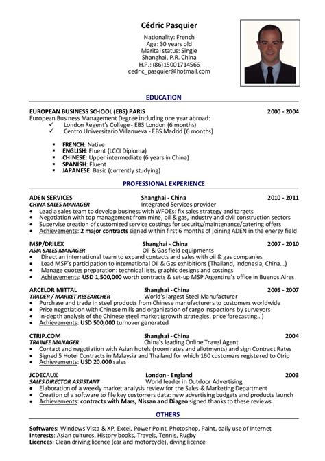 Tourism Manager Sle Resume by Cedric Pasquier C V