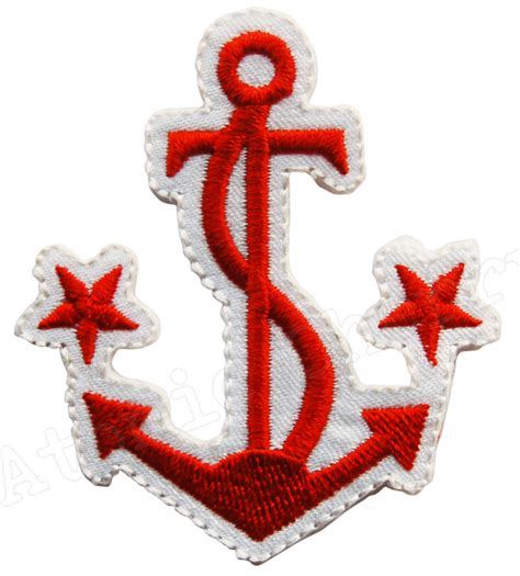 iron anchor tattoo iron on patch anchor rockabilly nautical ebay