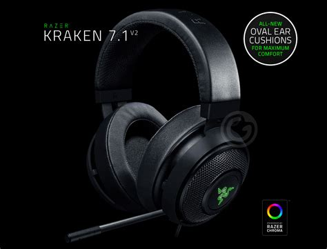 Razer Kraken 7 1 V2 Chroma headset razer kraken 7 1 v2 chroma microfone usb pc ps4