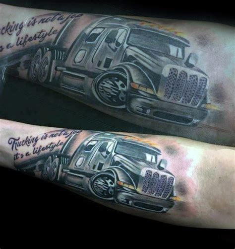 trucker tattoos 60 truck tattoos for vintage and big rig ink design